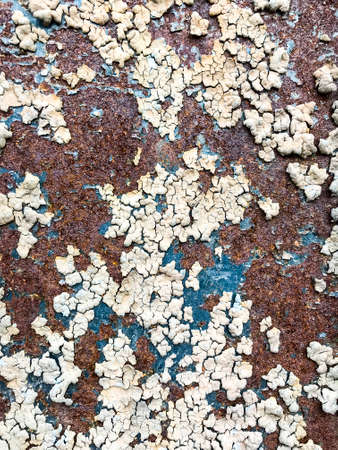 Corrosion on painted metal