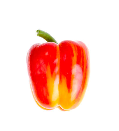 Paprika jaune et rouge frais et sucré. photo