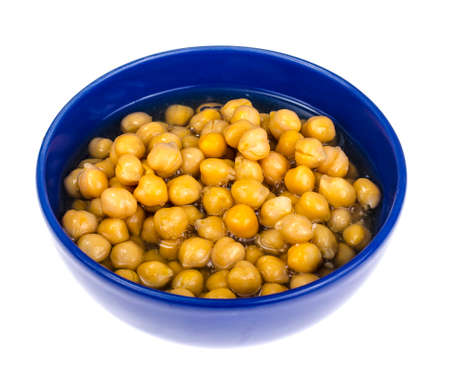 Canned chickpeas Standard-Bild