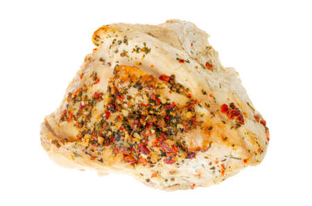 Grilled turkey breast with spices isolated on white background. Studio Photo Reklamní fotografie