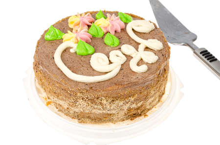 Delicious homemade cream cake. Studio Photo Reklamní fotografie