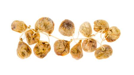 Useful dried fruits. Sun-dried fig fruits. Studio Photo