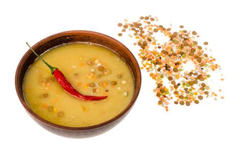 Hot cream soup of different cereals. Studio Photo Stok Fotoğraf