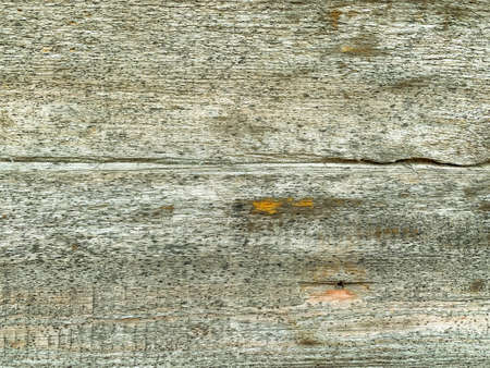 Background from old rotten cracked gray boards. Wood texture - horizontal patterns Stockfoto