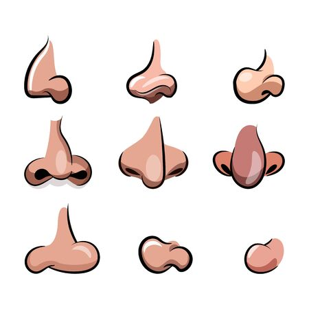 Vector nose cartoon set for character animation