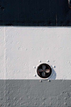 Ship board painted with black, white, and grey color. Abstract background. photo