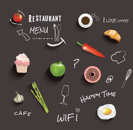 Restaurant menu design.vector illustration