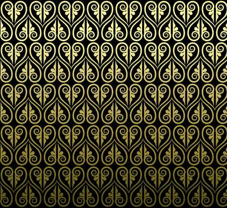 タイの伝統的なアート デザイン。タイの美術背景タイ アート パターン ベクトル