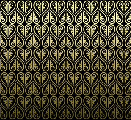 Conception d'art traditionnel thaïlandais. Fond d'art thaïlandais Motif d'art thaïlandais Vector Banque d'images - 41850094