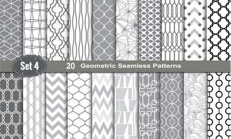 Geometric Seamless Patterns., pattern swatches included for illustrator user, pattern swatches included in file, for your convenient use.