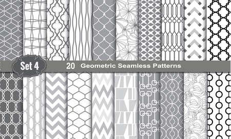 Seamless Patterns geométricos., Muestras de patrones incluidos para el usuario ilustrador, muestras de motivos incluidos en el expediente, para su uso práctico. Foto de archivo - 43196540