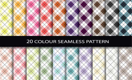 scott: 20 Color Seamless Patterns.Pattern swatches included for illustrator user, pattern swatches included in file, for your convenient use.
