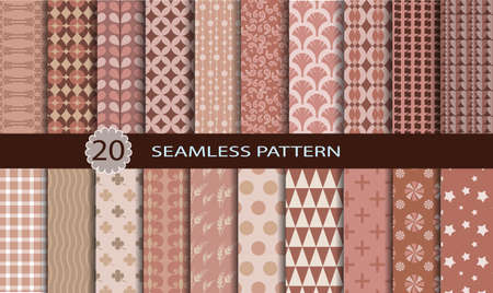 convenient: 20 Retro Seamless Patterns.Pattern swatches included for illustrator user, pattern swatches included in file, for your convenient use. Illustration