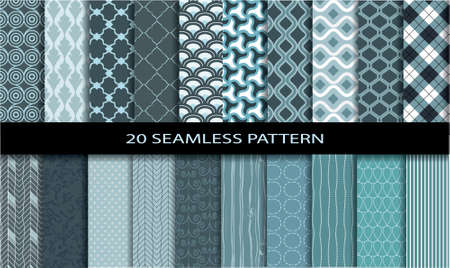 20 geometric  Seamless Patterns. Pattern swatches included for illustrator user, pattern swatches included in file, for your convenient use.