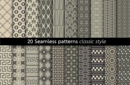 convenient: Geometrics Seamless Pattern. pattern swatches included for illustrator user, pattern swatches included in file, for your convenient use.