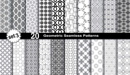 retro patterns: Geometric Seamless Patterns,, pattern swatches included for illustrator user, pattern swatches included in file, for your convenient use.