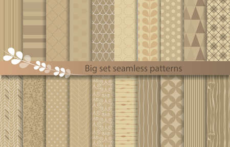 big set seamless patterns, kraft paper style, pattern swatches included for illustrator user, pattern swatches included in file, for your convenient use.