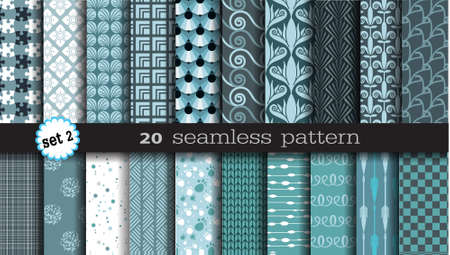 20 seamless patterns, thai design, geometric design.Pattern swatches included for illustrator user, pattern swatches included in file, for your convenient use.