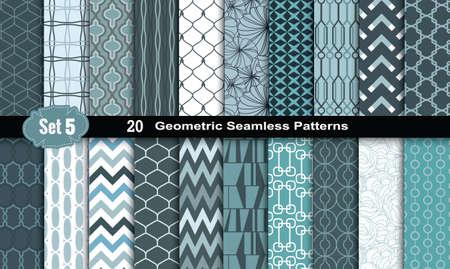 forme geometrique: Seamless Patterns géométriques