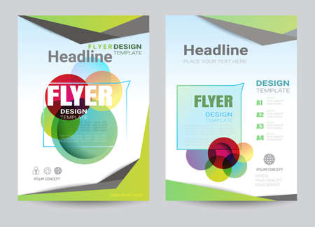 corporate brochure design layout template in A4 size, colorful style.