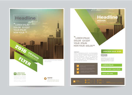 Corporate Brochure Design Layout Template In A Size Modern