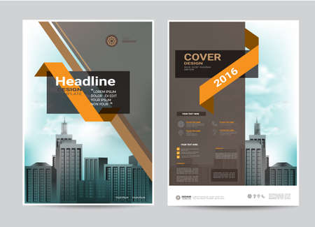 corporate brochure design layout template in A4 size, modern style. Иллюстрация
