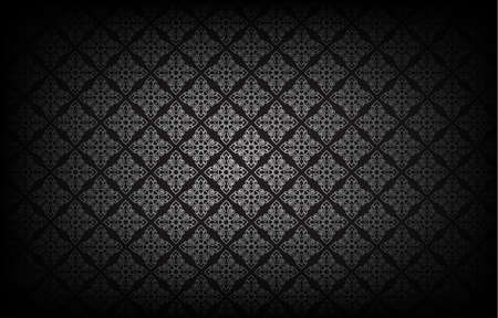 Thai art pattern on black background.vector illustration