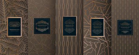 Collection of geometric design elements illustration Иллюстрация