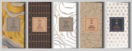 Chocolate bar packaging mock up set. Иллюстрация