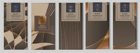 Chocolate bar packaging mock up set. Фото со стока - 98414028