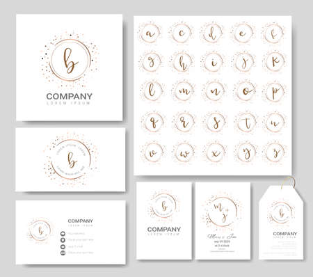 Premium logo templates for wedding,logo,business card,banner,badge,printing,product,package.vector illustration Фото со стока - 123871997