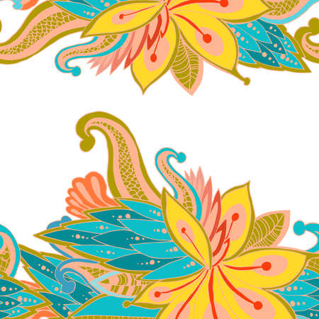 invented: Bright pattern invented flowers. Juicy colors. Unseen flowers and patterns. Illustration