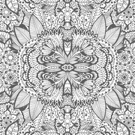 ユニークな塗り絵花の本格的なカーペットのデザインは、年長の小児と成人のカラーリスト、リラックス ライン アートの作成、好きな人に喜びと瞑