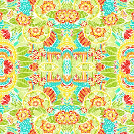手描かれた明るく美しいパターン。要素の落書き、インド パターンとパターン。明るい抽象的な背景。