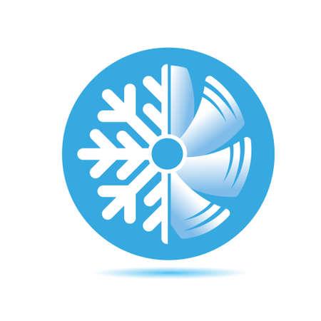 Ikona klimatyzatora. płaska konstrukcja