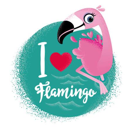 I love flamingo. Cute card with flamingos.