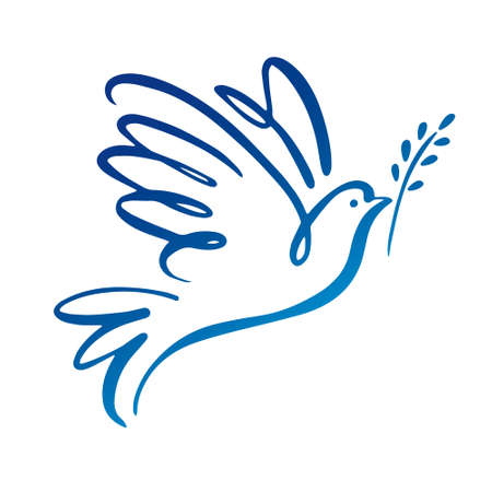 Dove of peace icon.