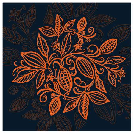 Cocoa beans illustration