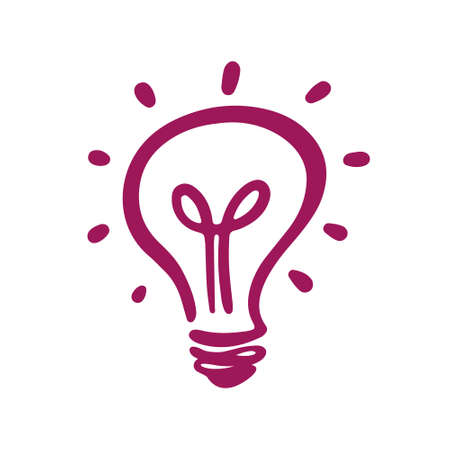 Light bulb icon with concept of idea.