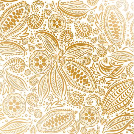 cacaobonen naadloos patroon.