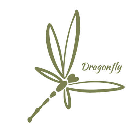 Dragonfly Logo Design Template. Vector illustration.