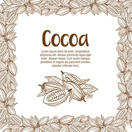Cacaobonen illustratie. Chocolade cacaobonen Vector Illustratie
