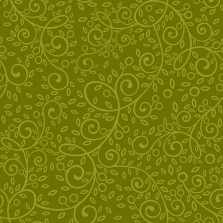 Seamless pattern. Vector olive branch.
