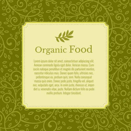 Ulotka, broszura, plakat, szablon wektor. Gałązka oliwna w tle. Nowoczesna ekologia projekt zielonych liści