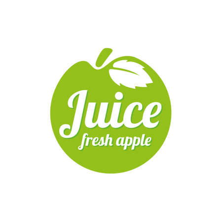 Apple logo design concept. Fruit and juice icon theme. Unique symbol of organic and healthy food.