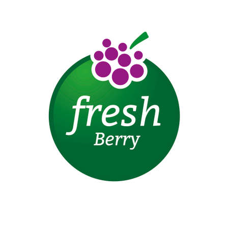 Berry logo design concept. Fruit and juice icon theme. Unique symbol of organic and healthy food.
