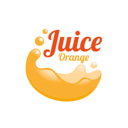 Juice orange logo design concept. Fruit and juice icon theme. Unique symbol of organic and healthy food.