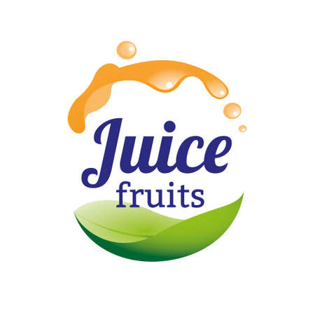 Juice logo design concept. Fruit and juice icon theme. Unique symbol of organic and healthy food.