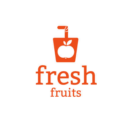 Juice friuts logo design concept. Fruit and juice icon theme. Unique symbol of organic and healthy food. 向量圖像