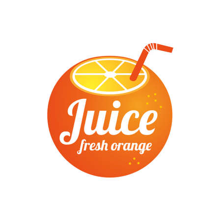 Orange logo design concept. Fruit and juice icon theme. Unique symbol of organic and healthy food. 向量圖像